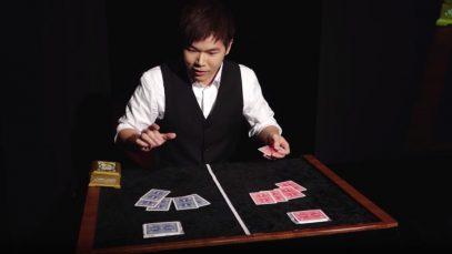 É por truques como este que foi considerado nesta modalidade de magia o campeão mundial