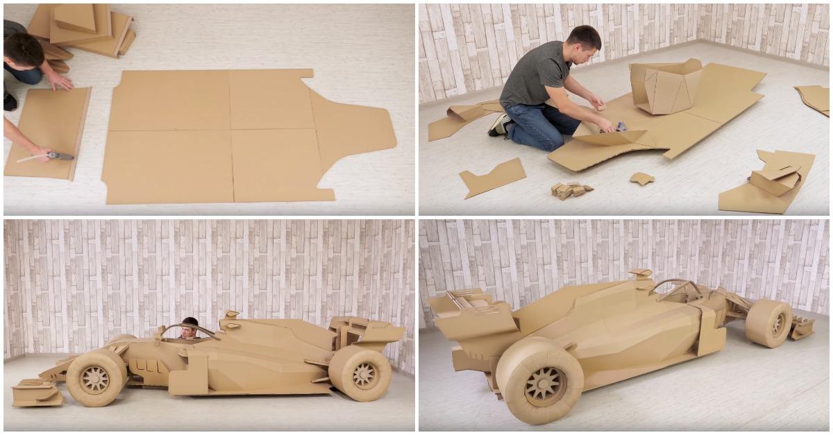 Como Construir Um Carro De Fórmula 1 Em Papelão à Escala 11 Tá Bonito